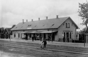 Birkroed station 1950'erne